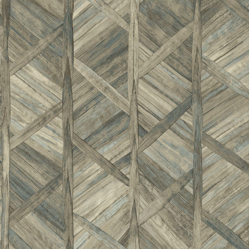Tapéta fahatású mintával sötét barna színvilágban