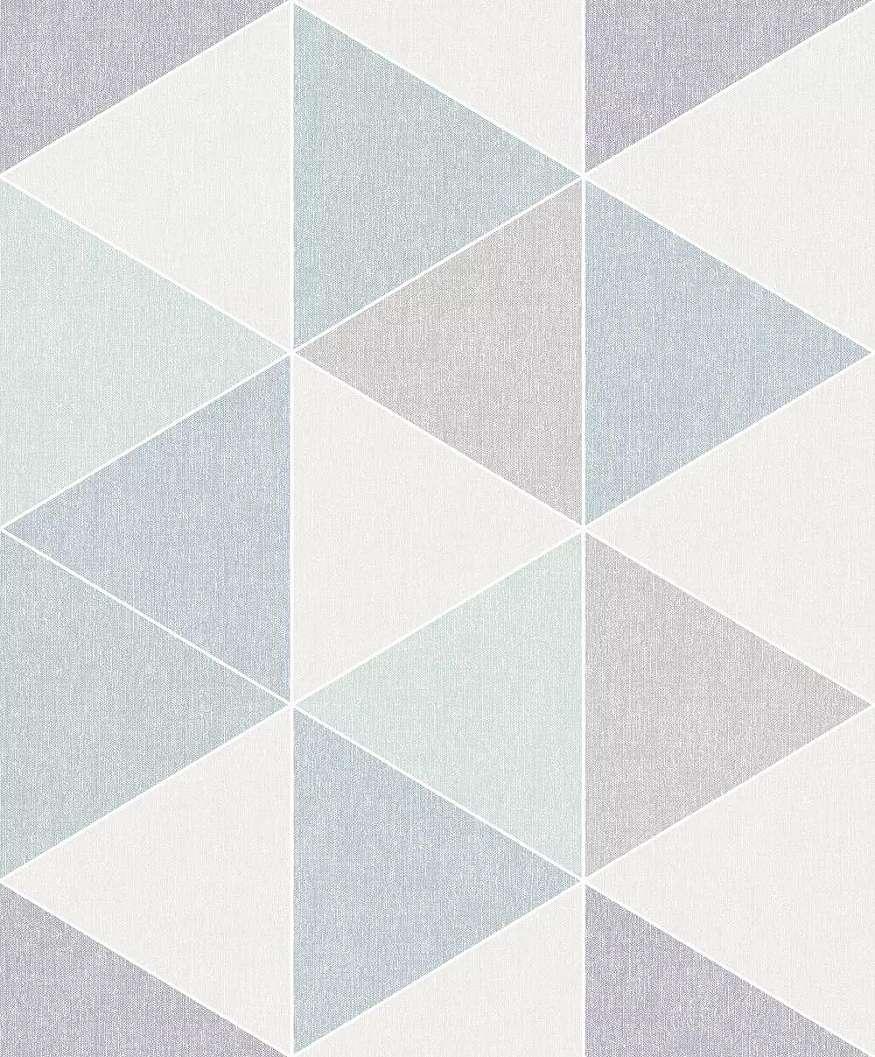 Tapéta háromszög mintával skandináv stílusban