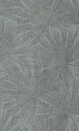 Tapéta kék alapon trópusi pálma levél mintával