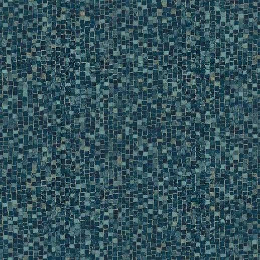 Tapéta kék mozaik mintával