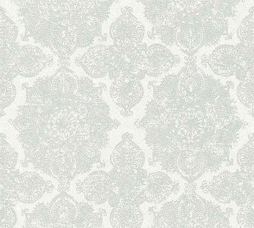 Tapéta klasszikus barokk mintával szürke ezüst színben metál hatással