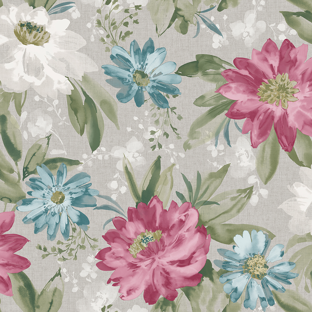 Tapéta klasszikus vintage hangulatú dália virág mintával