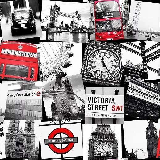 Tapéta London nevezetességeivel