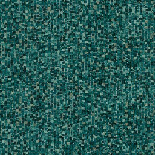 Tapéta mozaik mintával zöldeskék színben