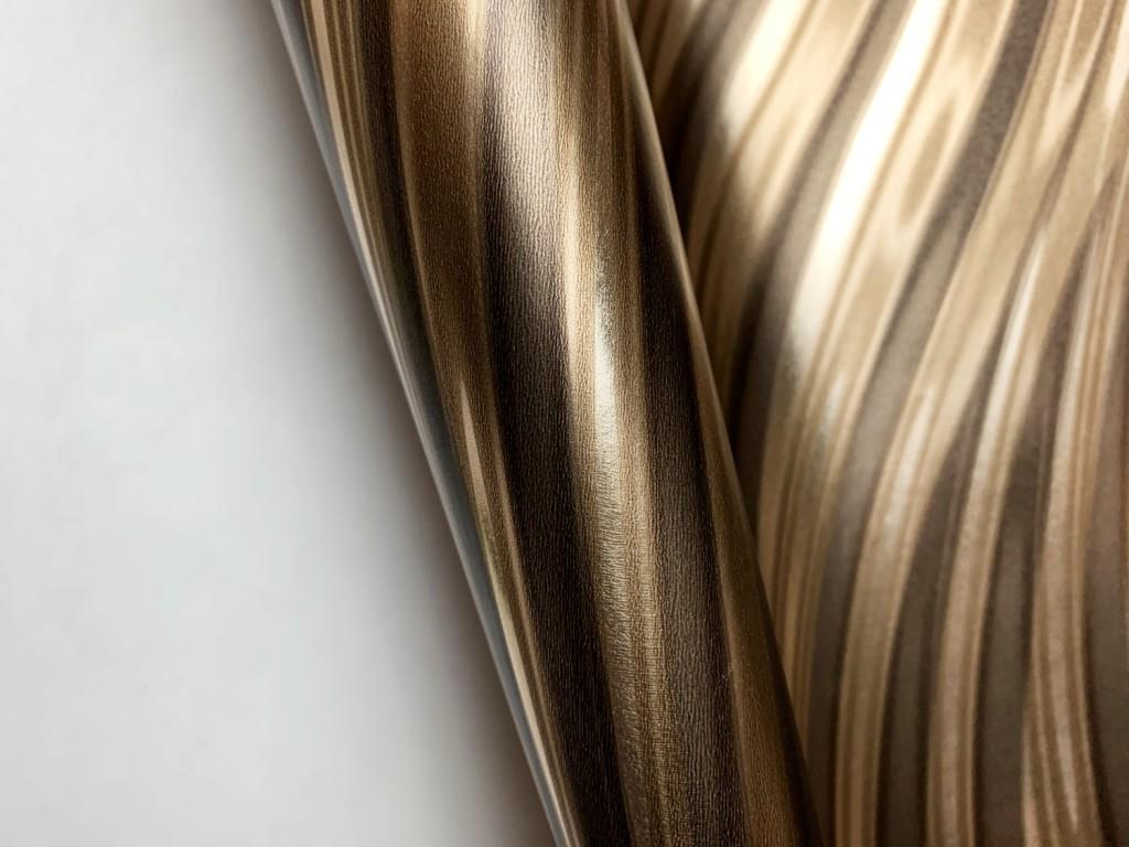 Tapéta Óarany tükrözödő felületű hullám mintáva