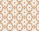 Tapéta orientális csempe mintával narancssárga színvilágban