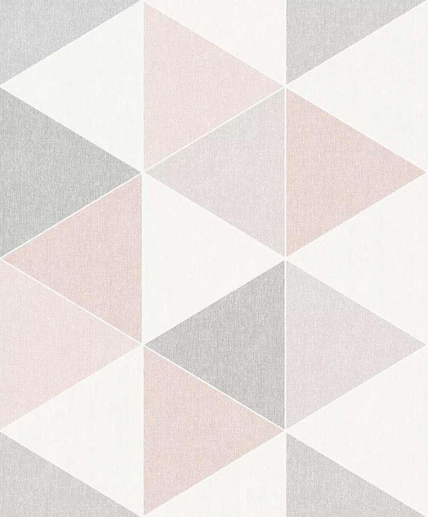 Tapéta retro háromszög geometria mintával
