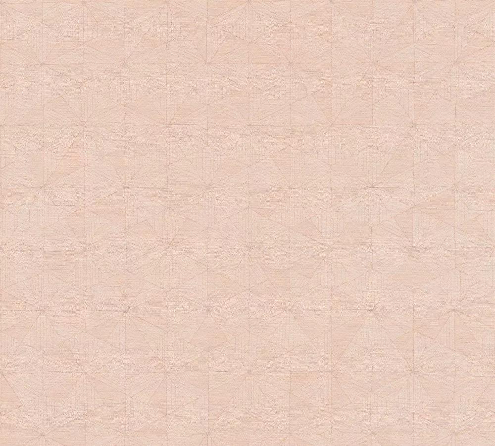 Tapéta rózsaszín színben modern finom geometriai mintával