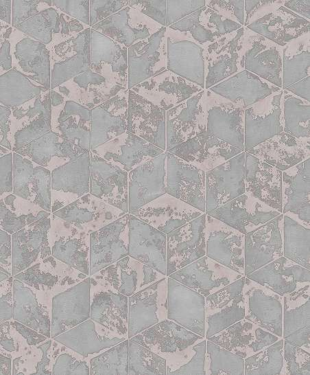 Tapéta rózsaszín színvilágban geometriai mintával