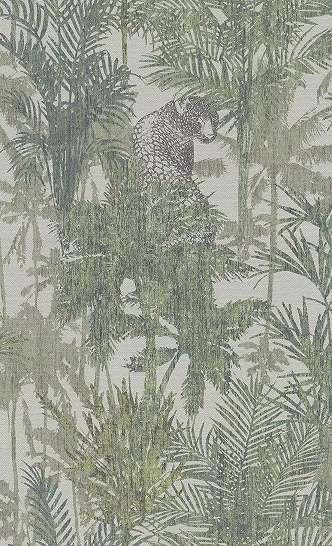 Tapéta trópusi leopárd, pálma mintával modern enteriőrbe