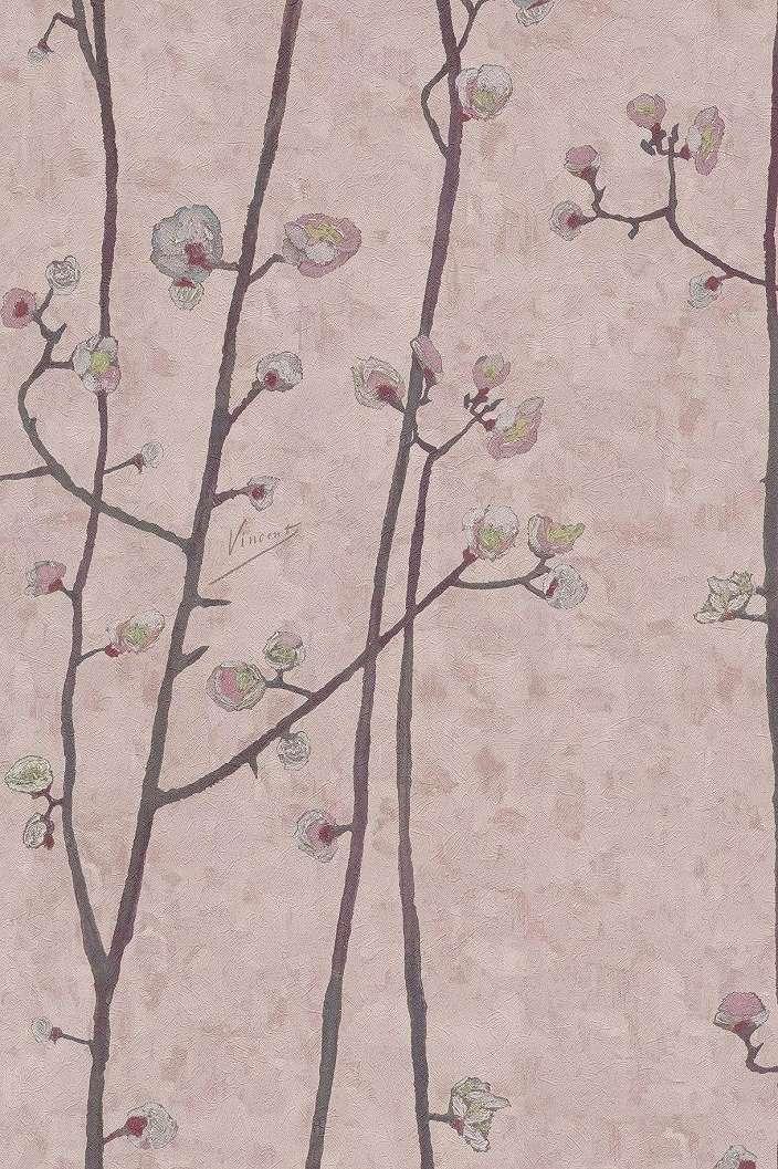 Tapéta Van Gogh cseresznyefa virág mintával