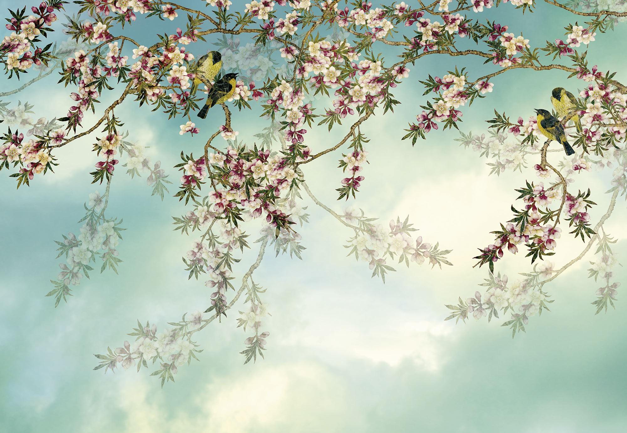 Tavaszi virágba borulás fali poszter