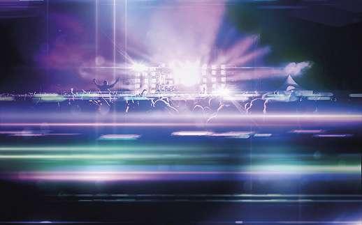 Techno koncert fali poszter