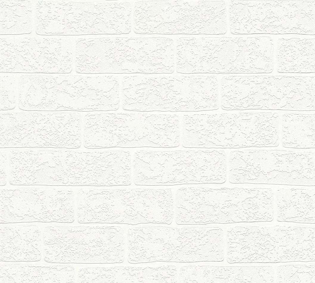 Téglamintás vlies tapéta krémfehér színben habosított felülettel