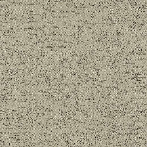 Térkép mintás tapéta barna színvilágban
