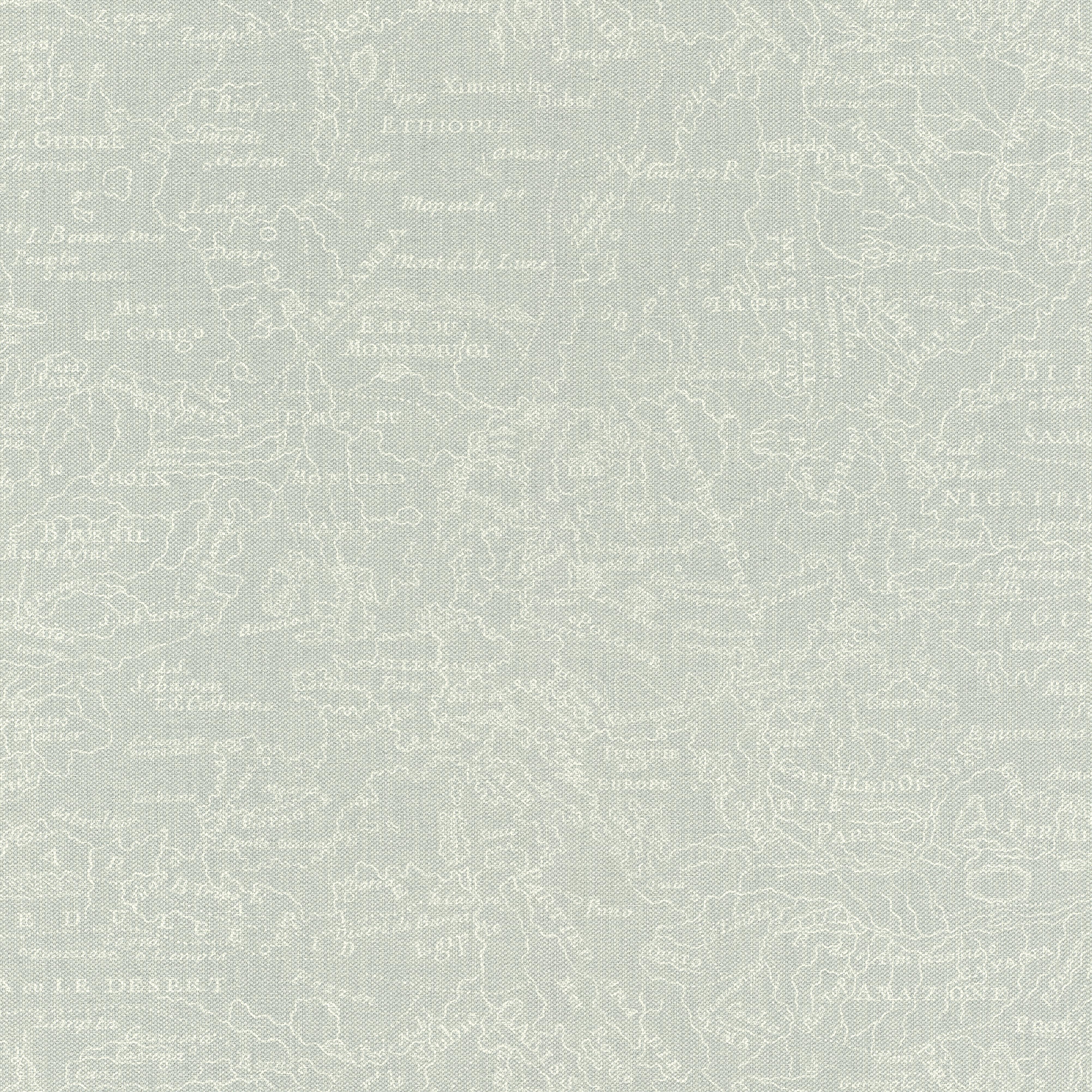Térkép mintás tapéta, krém halvány kék árnyalattal