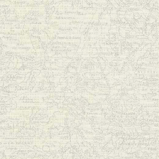 Térkép mintás tapéta szürke bézs színvilágban