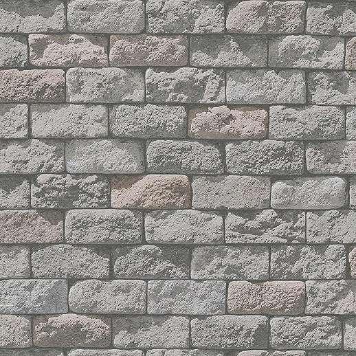 Természtetes hatású téglamintás papír tapéta