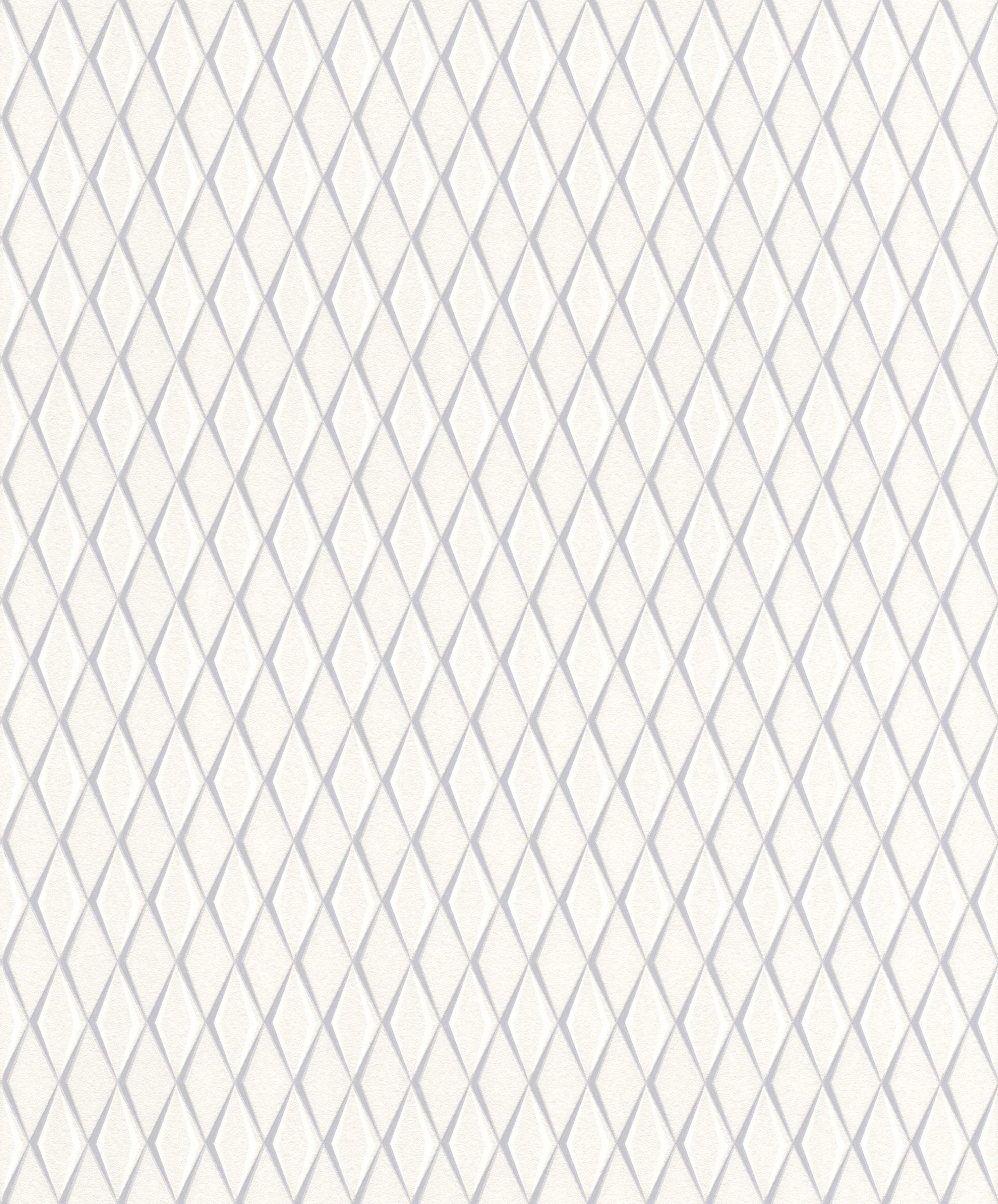 Törtfehér alapon szürke geometriai mintás rasch tapéta
