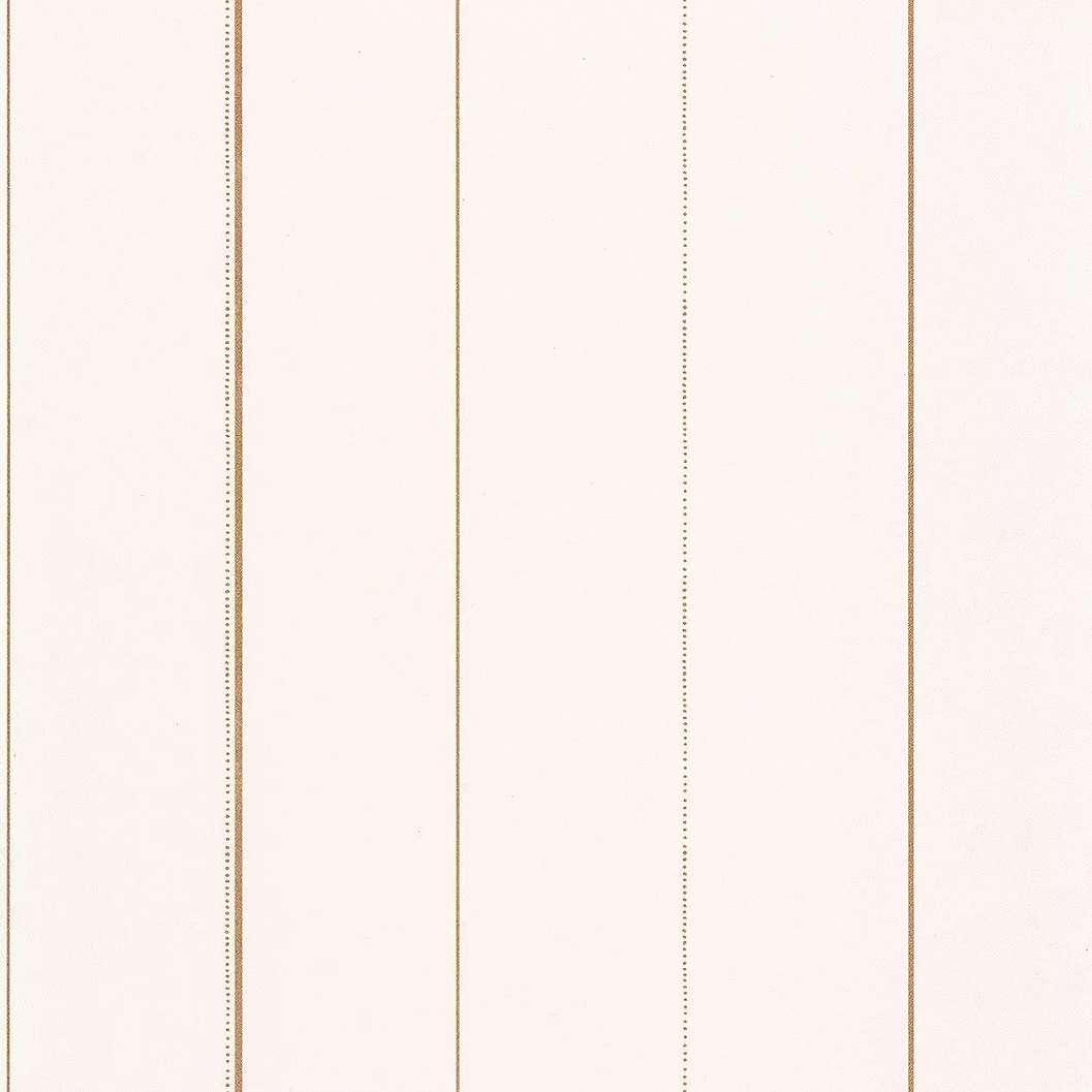 Törtfehér csíkos mintás caselio luxus tapéta vékony arany csíkos mintával