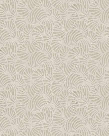 Törtfehér kagyló mintás tapéta