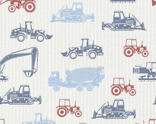 Traktor mintás gyerek tapéta