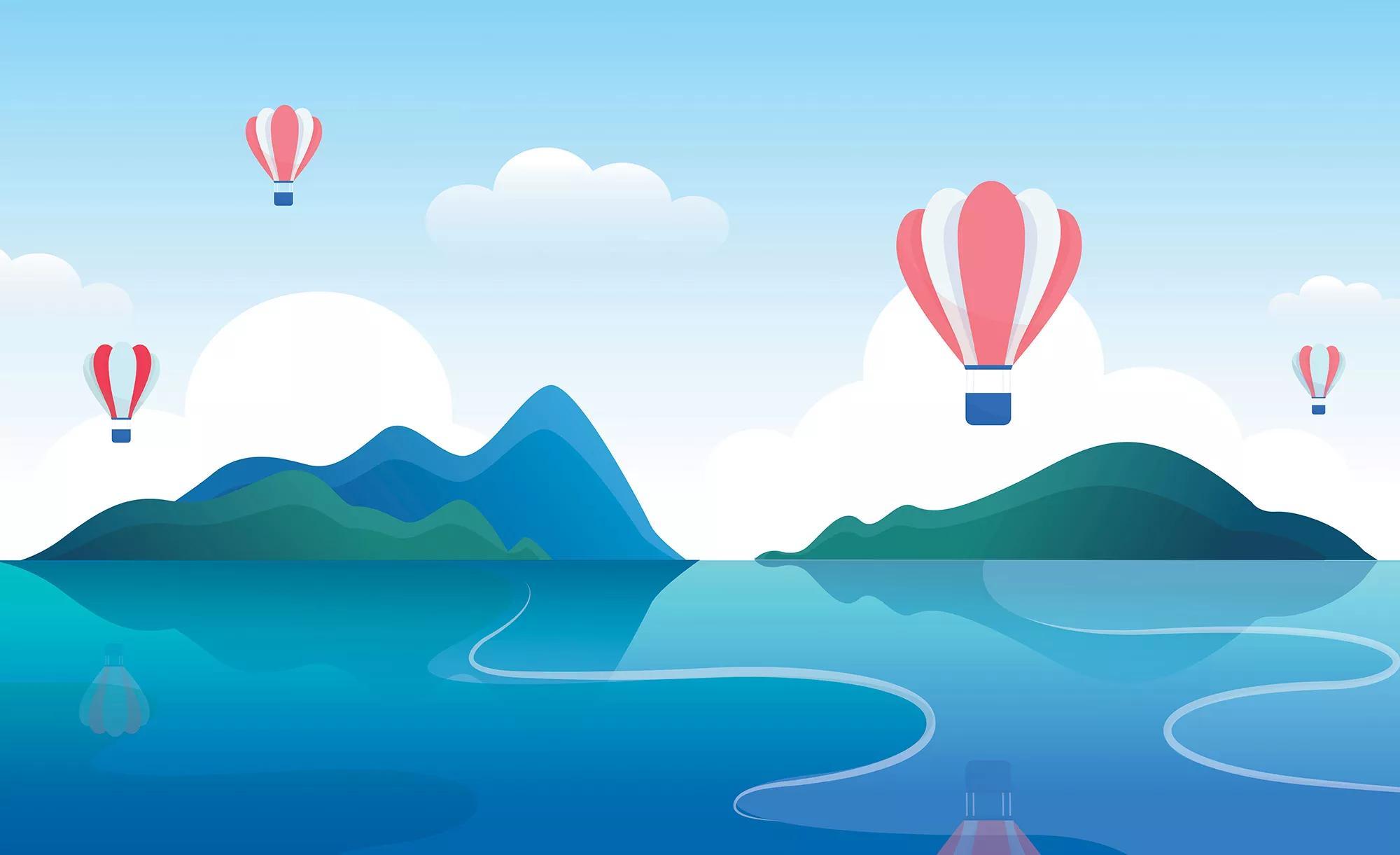 Trendi légballon mintás fali poszter