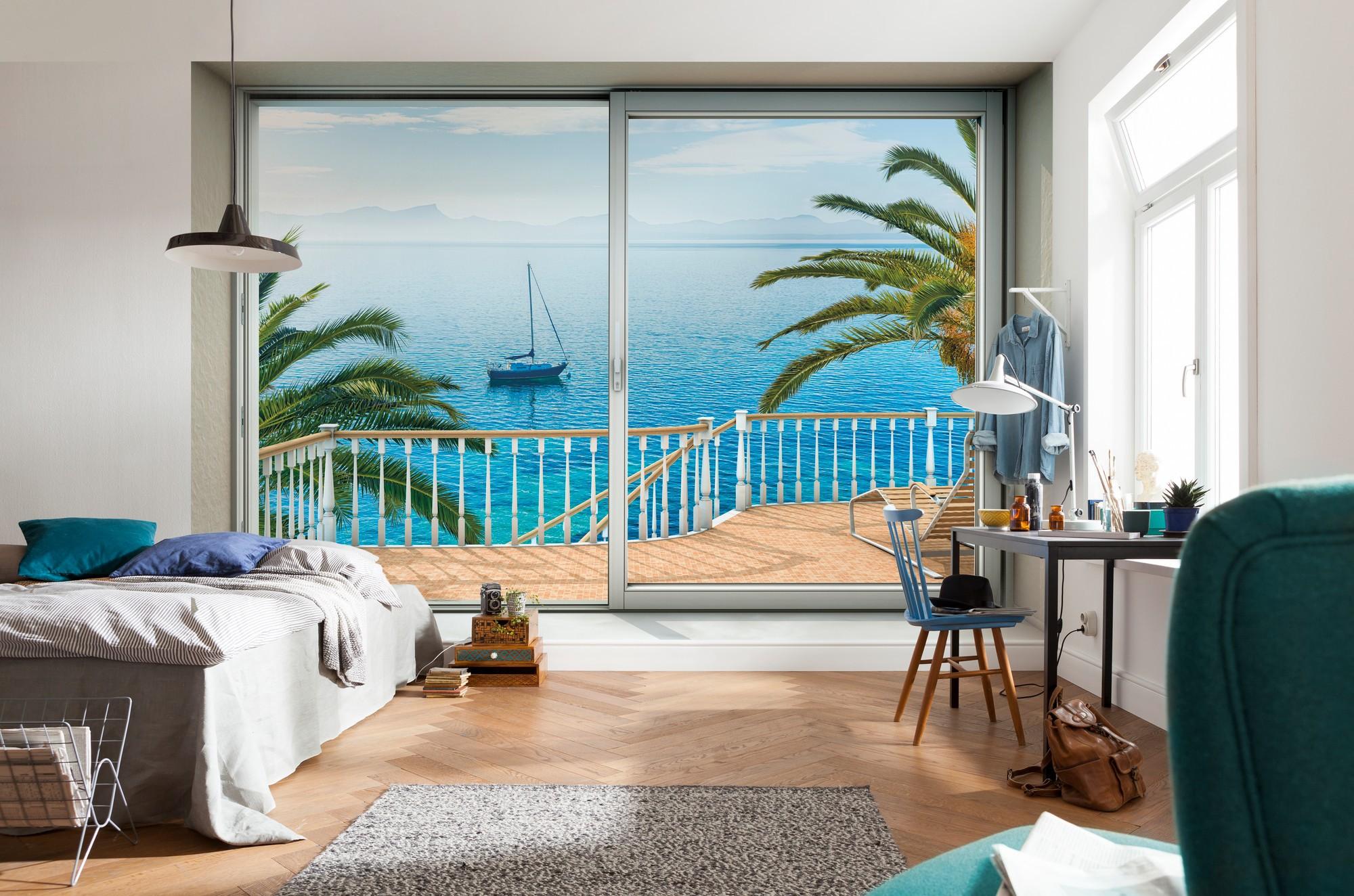 Trópusi békés panoráma fali poszter