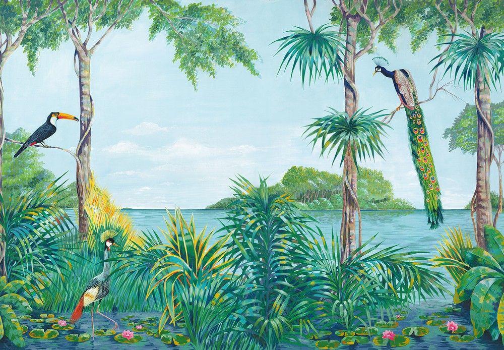 Trópusi hangulatú fali poszter