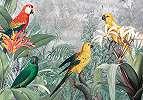 Trópusi hangulatú modern papagály mintás vlies fali poszter