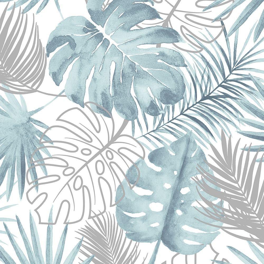 Trópusi hangulatú pálmalevél mintás tapéta