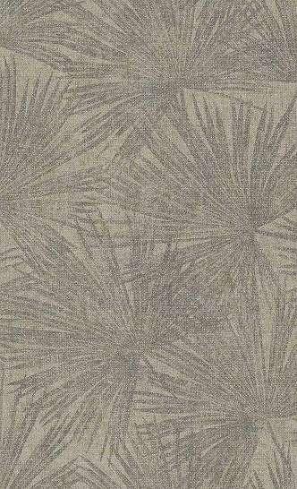 Trópusi levél mintás tapéta sötét bézs, krém színben