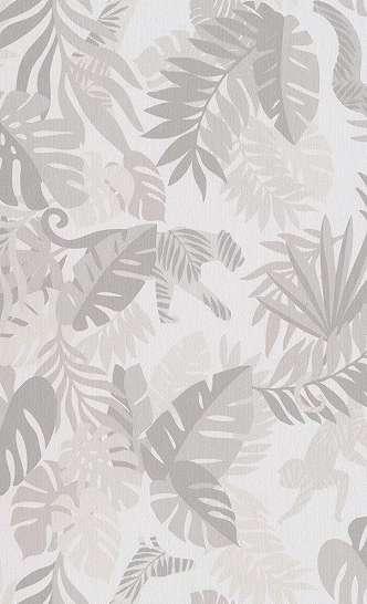 Trópusi mintás gyerek tapéta bézs, natúr színvilágban