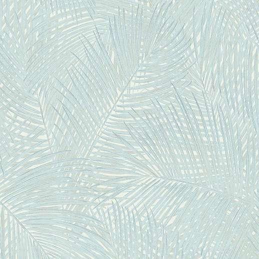 Trópusi pálmalevél mintás vlies design tapéta pasztell színben