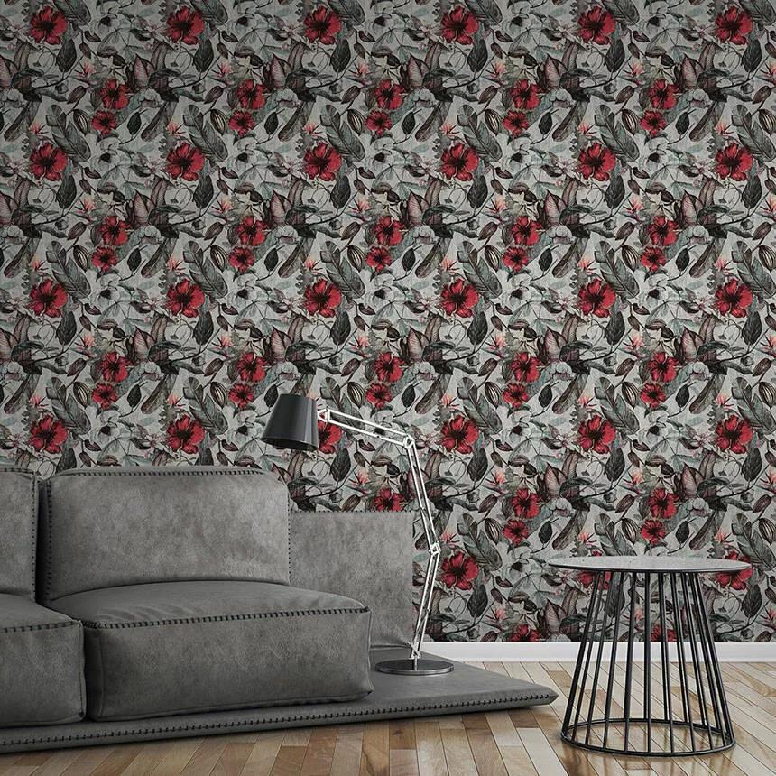 Trópusi virágmintás dekor tapéta