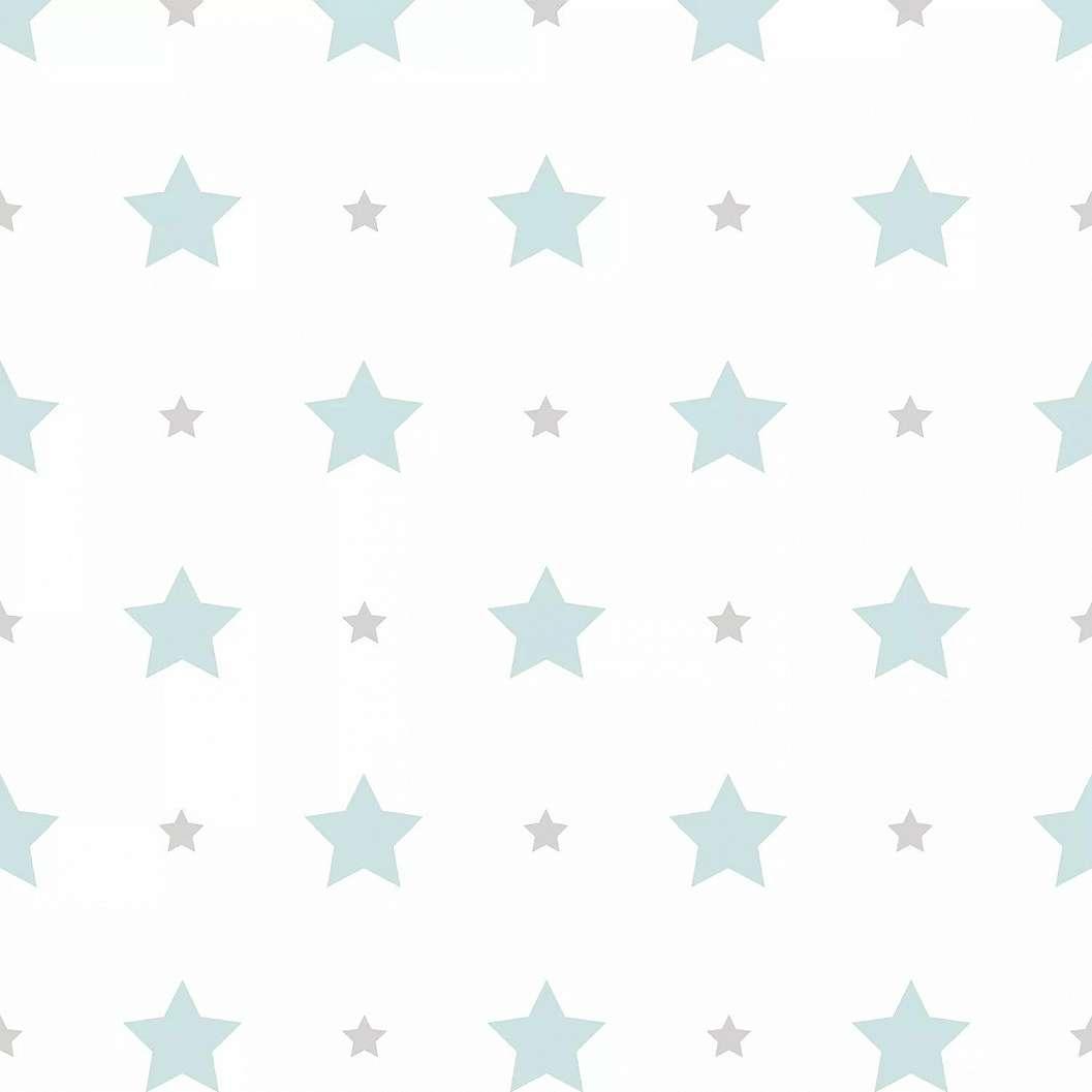 Türkiz csillag mintás gyerektapéta