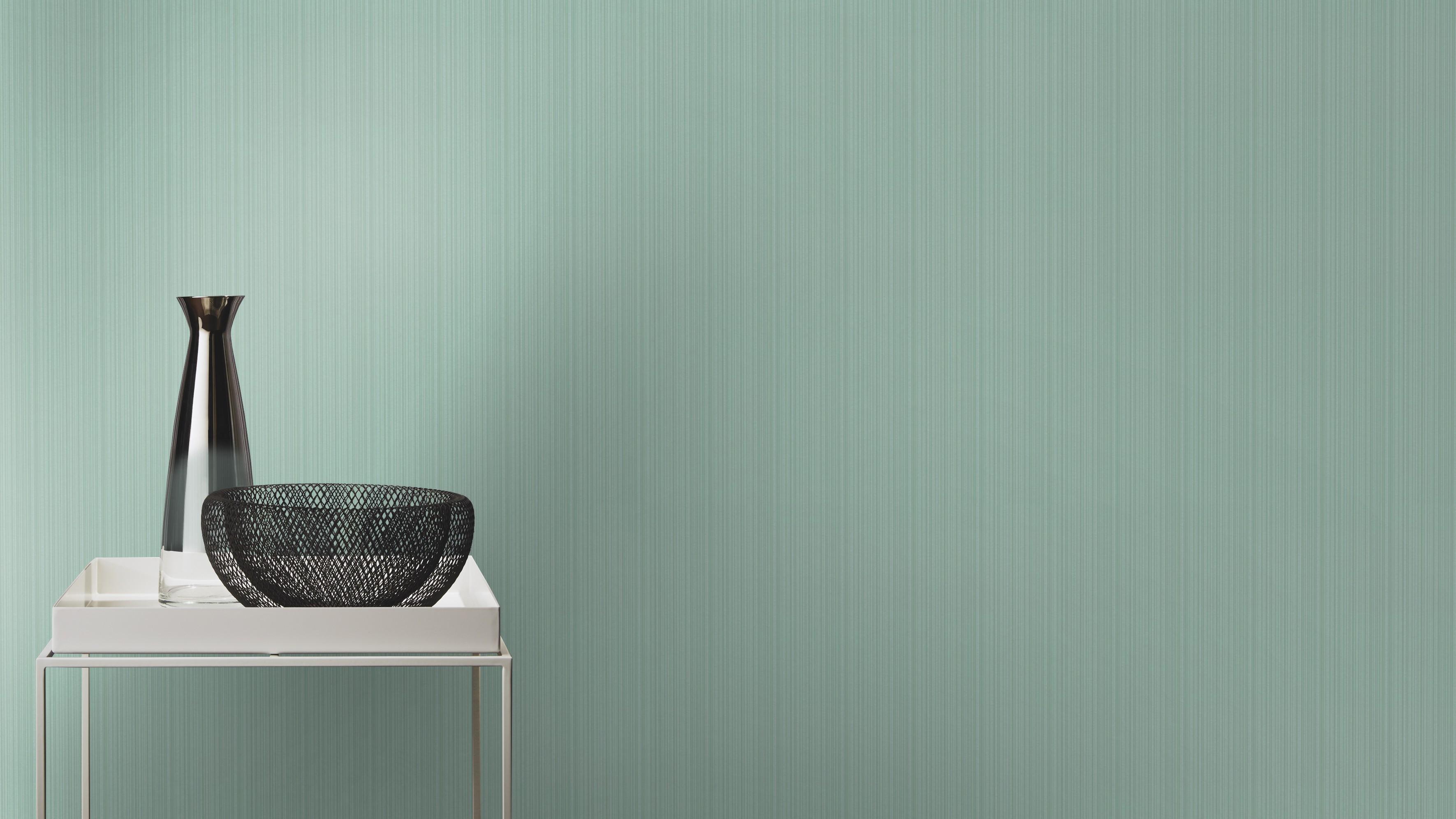 Türkíz egyszínű csíkos retro tapéta