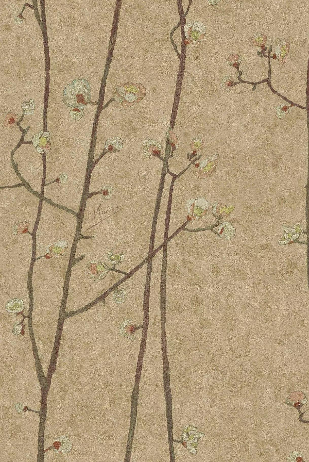 Van Gogh csereszefa virág mintás tapéta
