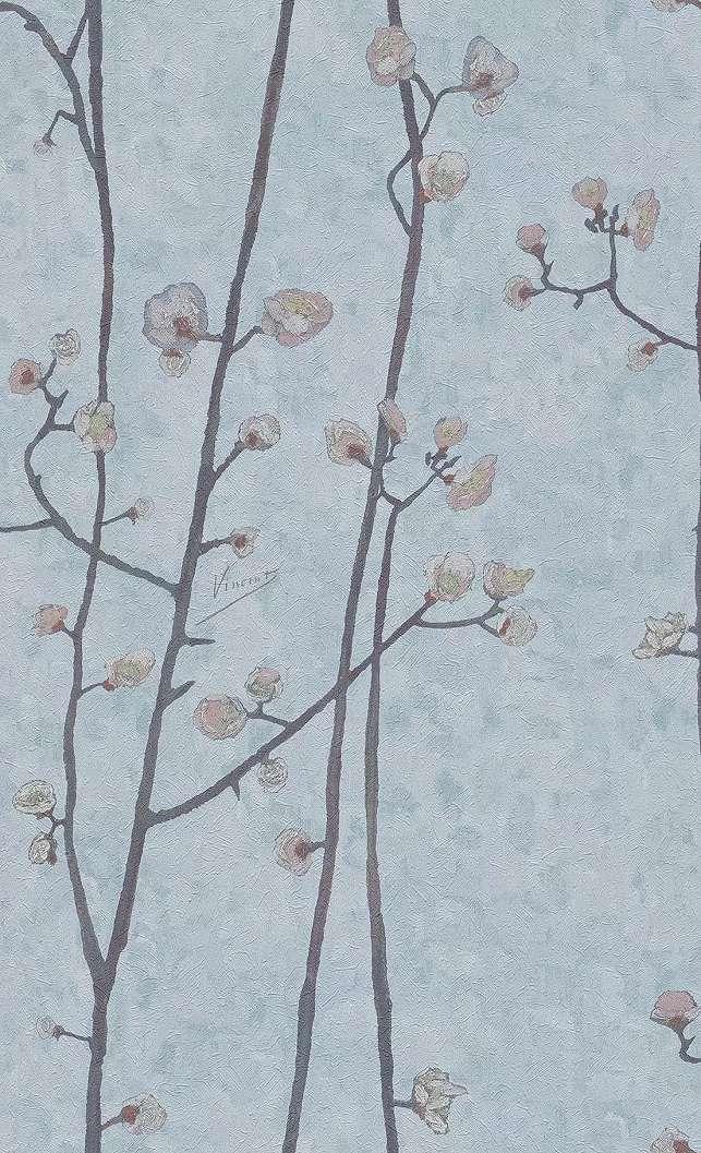 Van Gogh kék színű virág mintás tapéta