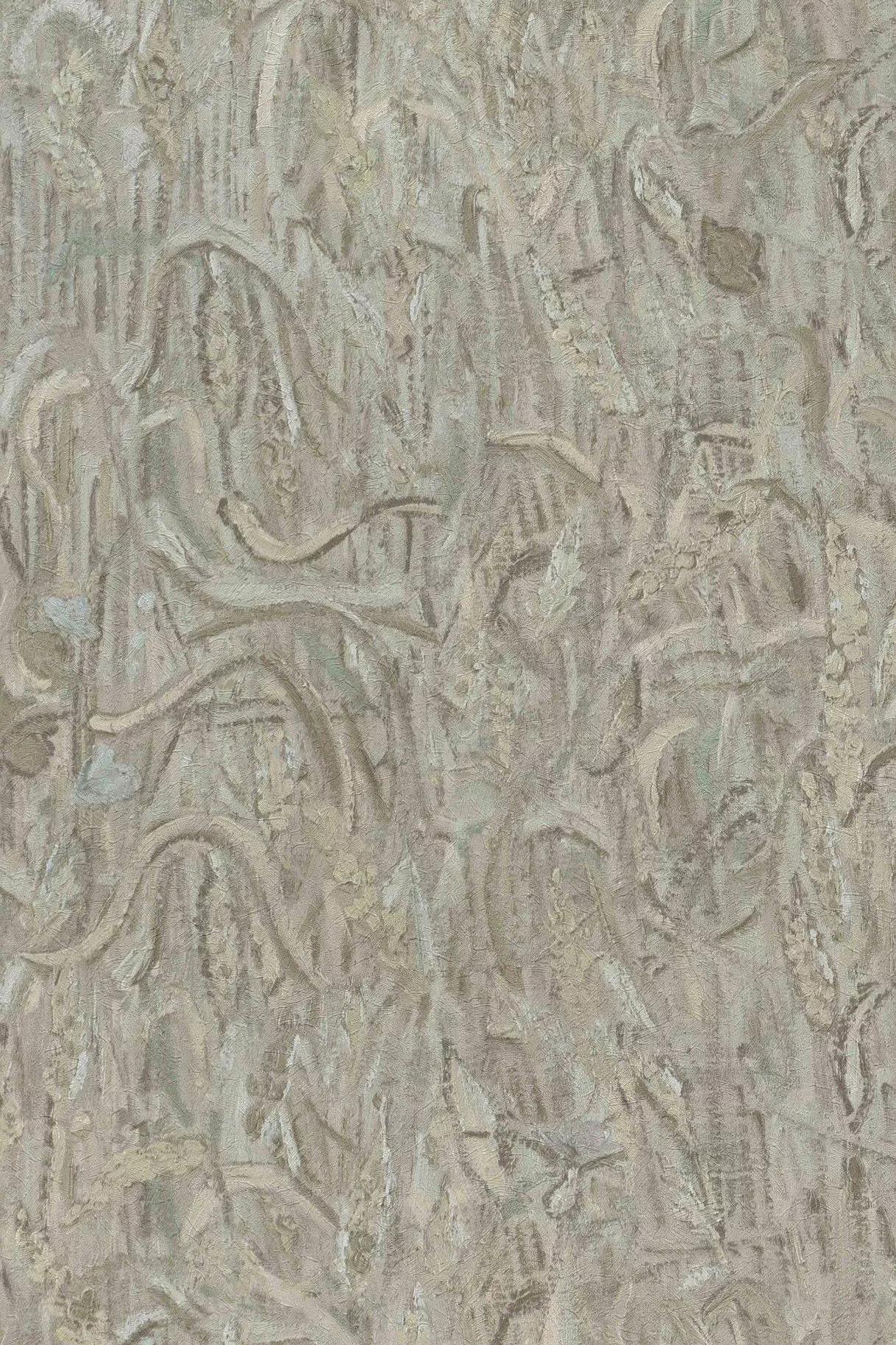 Van Gogh szürke kézi festett hatású tapéta