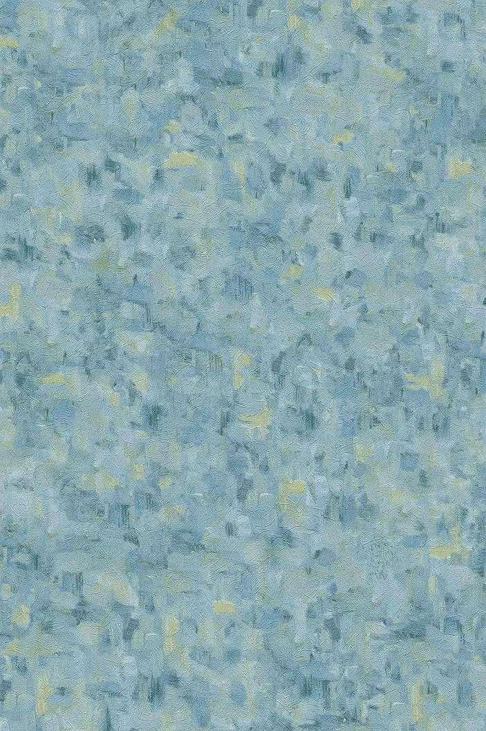 Van Gogh tapéta kék zöld színekkel, Van Gogh ecsetvonásainak mintájával