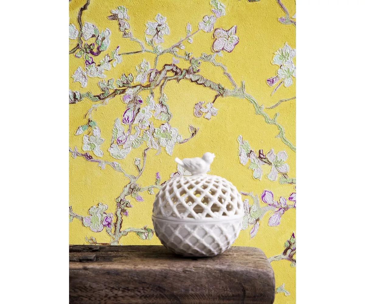 Van Gogh tapéta sárga cseresznyefa virág mintával