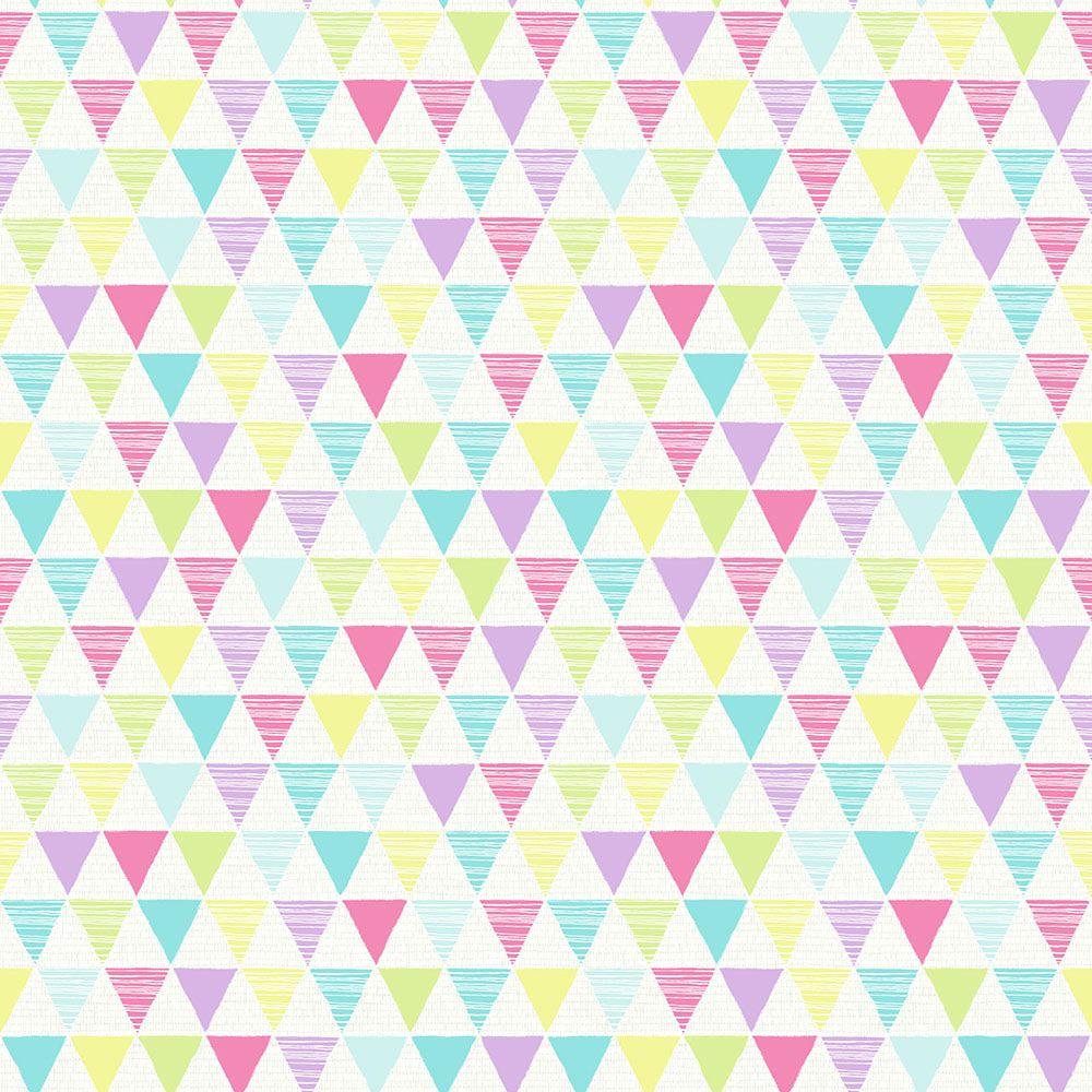 Vidám lányos geometriai mintás tapéta