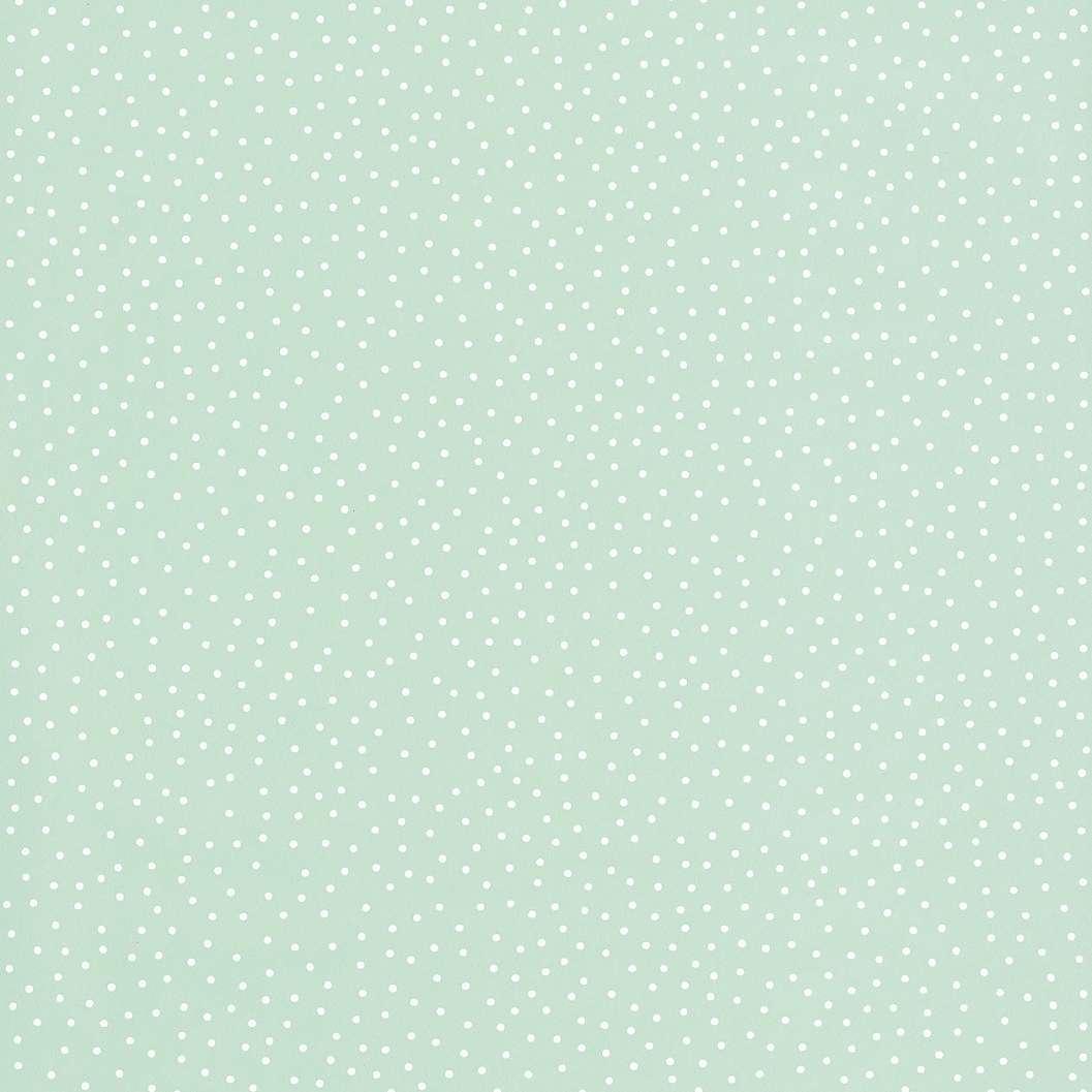 Világoszöld pöttyös tapéta