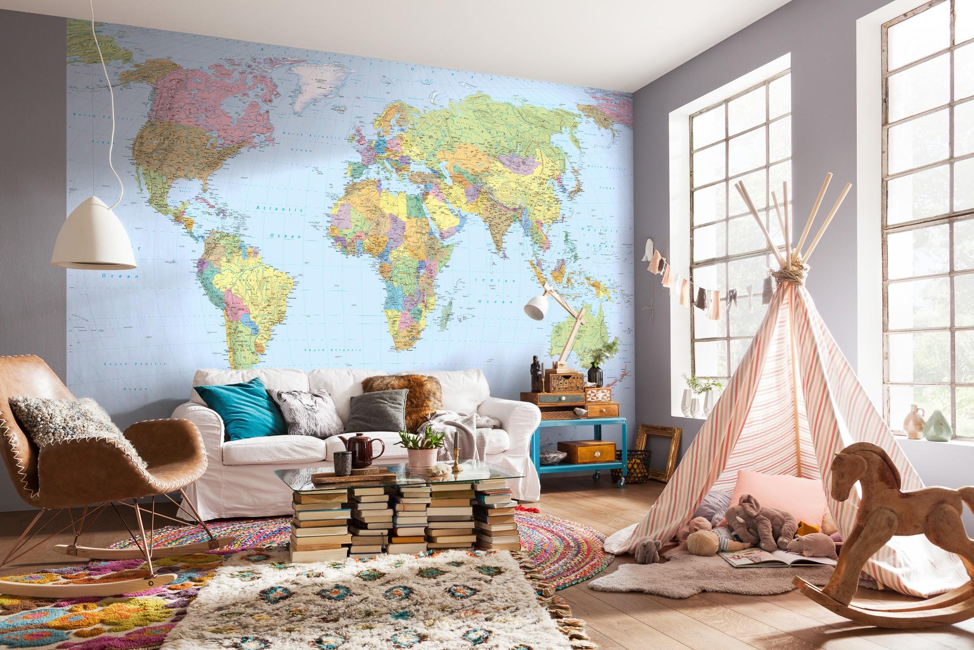 Világtérkép fali poszter