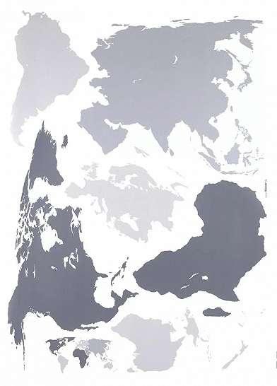 Világtérkép mintás falmatrica