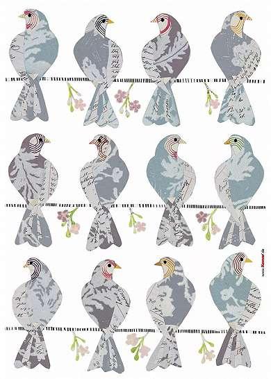 Vingate madár mintás falmatrica