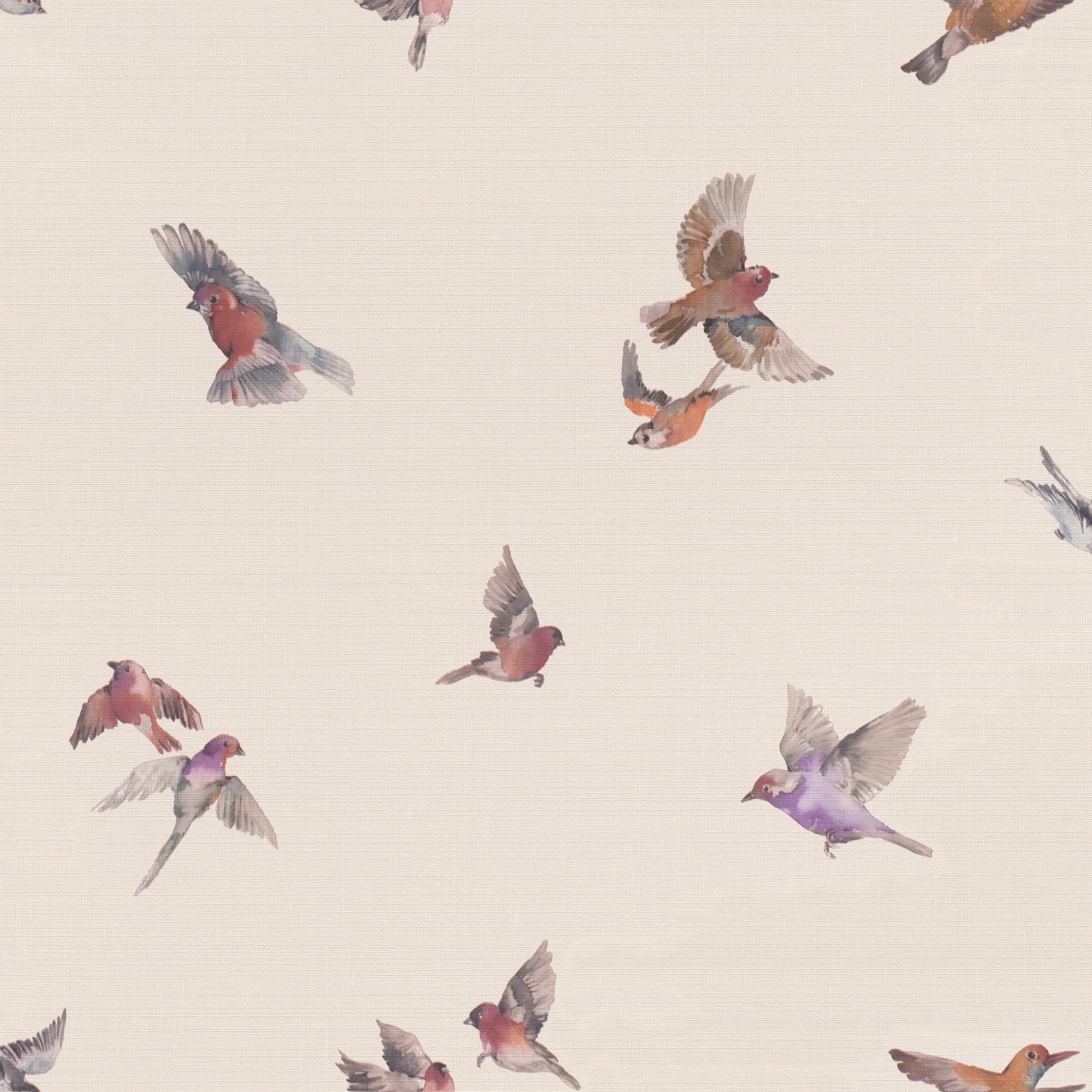 Vintage hangulatú madár mintás tapéta