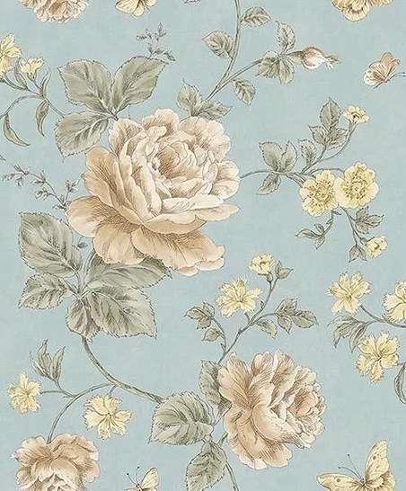 Vintage hangulatú rózsa mintás dekor tapéta