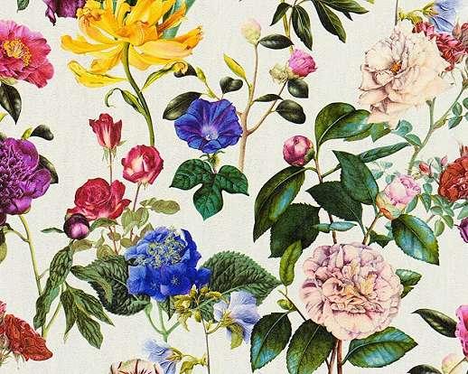 Vintage hangulatú virágmintás vlies tapéta